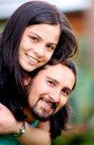 Couple portrait outdoors Stock Images
