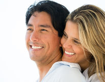 Couple portrait smiling Stock Photos
