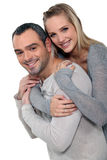 Couple portraitHappy couple hugging Royalty Free Stock Photos