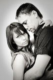 Couple portraits. Balck and white Stock Photography