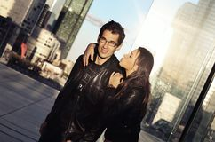 couple posing Stock Photos