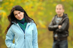 Couple posing. Autumn Royalty Free Stock Images