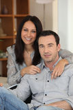 Couple posing for picture Royalty Free Stock Photo