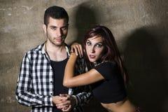 Couple posing Stock Photography