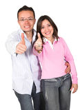 Couple with a positive attitude Royalty Free Stock Image