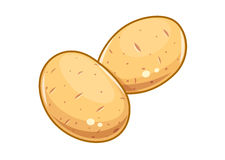 Couple potatoes vector illustration eps10 white Stock Image