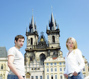 Couple in Prague Royalty Free Stock Photos