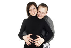 A couple pregnant girl Stock Image