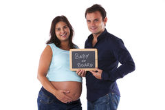 Couple with a pregnant woman Stock Photography