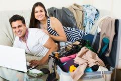 Couple preparing for honeymoon Royalty Free Stock Photos