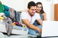 Couple preparing for honeymoon Stock Photo