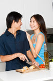 Couple Preparing Meal Royalty Free Stock Photography