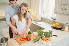 Couple preparing vegetables Stock Photography
