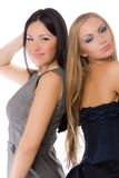 Couple of pretty young adult babe Royalty Free Stock Photos