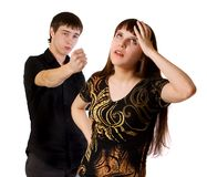 Couple problem Royalty Free Stock Photography