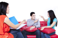 Couple with a problem consults to a psychologist 1 Stock Photography
