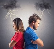 Couple problem Royalty Free Stock Image