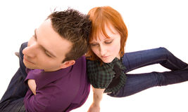 Couple with problems Royalty Free Stock Images