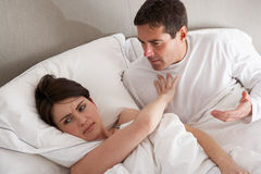 Couple With Problems Having Disagreement Royalty Free Stock Image