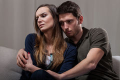 Couple problems during psychotherapy stock image