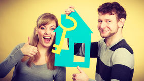 Couple project their first house. Royalty Free Stock Images