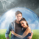Couple protects their relationship Royalty Free Stock Image