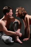 Couple provocative flirt Stock Image