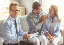 Couple at the psychotherapist Royalty Free Stock Photography