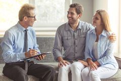 Couple at the psychotherapist Royalty Free Stock Images