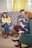 Couple at the psychotherapist Royalty Free Stock Photos