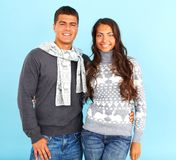 Couple in pullovers Stock Photography
