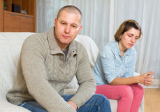 Couple quarrel at home Royalty Free Stock Photography
