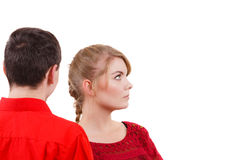 Couple after quarrel offended sad serious Royalty Free Stock Images