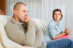 Couple quarrel Royalty Free Stock Image