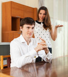 Couple after quarrel Royalty Free Stock Photo