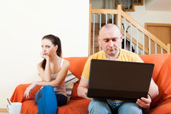 Couple in quarrel Royalty Free Stock Image