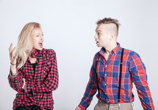 Couple in quarrel. Royalty Free Stock Photography