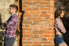Couple quarreled Stock Image