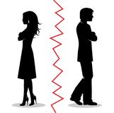 The couple quarreled and turned away from each other Stock Images