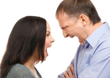 Couple quarreling Stock Photo