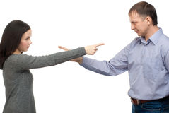 Couple quarreling Stock Photography