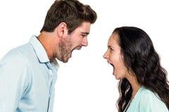 Couple quarreling having argument Royalty Free Stock Photos