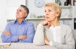 Couple quarreling at home with each other Royalty Free Stock Photography