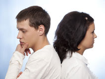 Couple quarreling Stock Image