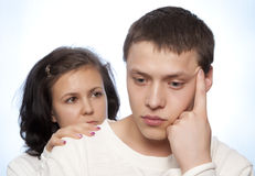 Couple quarreling Stock Photos