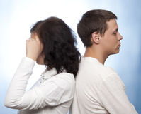 Couple quarreling Stock Photography