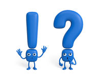 Couple of question mark and exclamation point Royalty Free Stock Images
