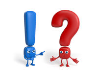 Couple of question mark and exclamation point Stock Photography