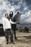 Couple at ranch royalty free stock image