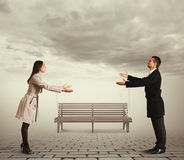 Couple reaching out for each other Royalty Free Stock Photography